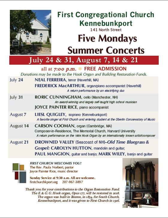 summer 2017 concerts